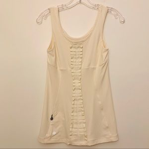 LULULEMON CREAM RUFFLE POCKET TANK TOP